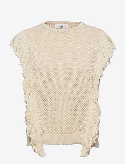 Fabio Top - knitted vests - ecru