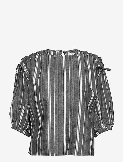 Jivan Top - long sleeved blouses - black