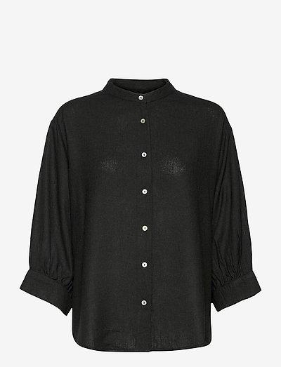 Santi Shirt - long sleeved blouses - black