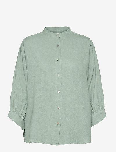Santi Shirt - long sleeved blouses - chinois green