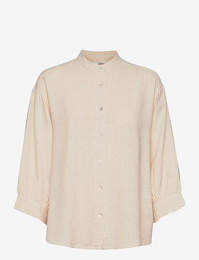 Santi Shirt - long sleeved blouses - ecru