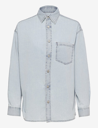 Tye Shirt - long-sleeved shirts - vintage blue