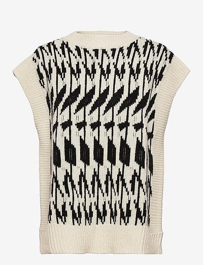 Sawyer Vest - knitted vests - off white