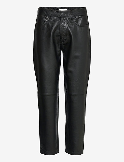 Valdi Pant - leather trousers - black