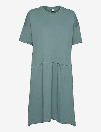 Stone Dress - midi dresses - seaweed green