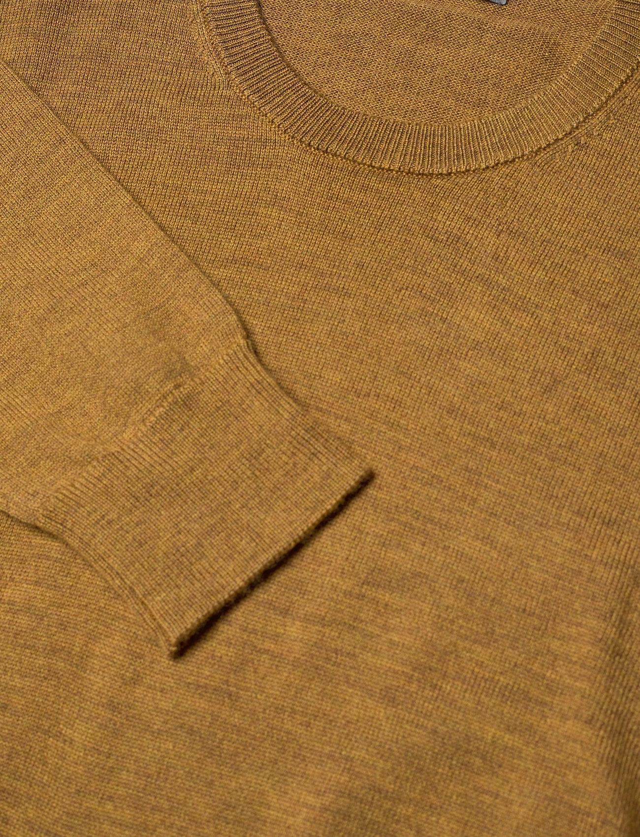 Icebreaker Mens Shearer Crewe Sweater - Strikkevarer SAFFRON HTHR - Menn Klær