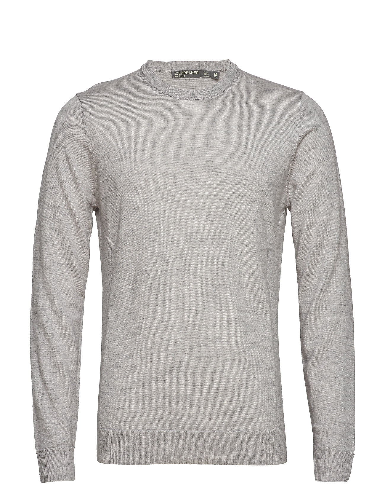 Icebreaker Mens Shearer Crewe Sweater - STEEL HTHR