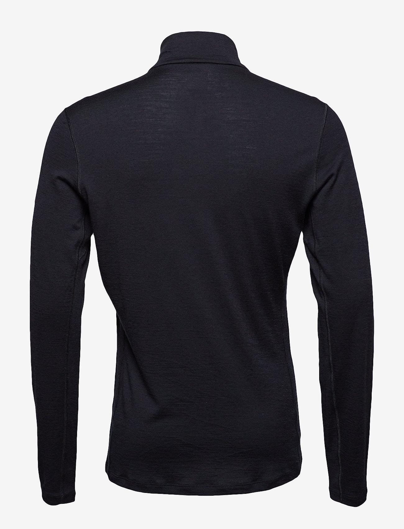Icebreaker Mens 200 Oasis LS Half Zip - T-skjorter BLACK - Menn Klær