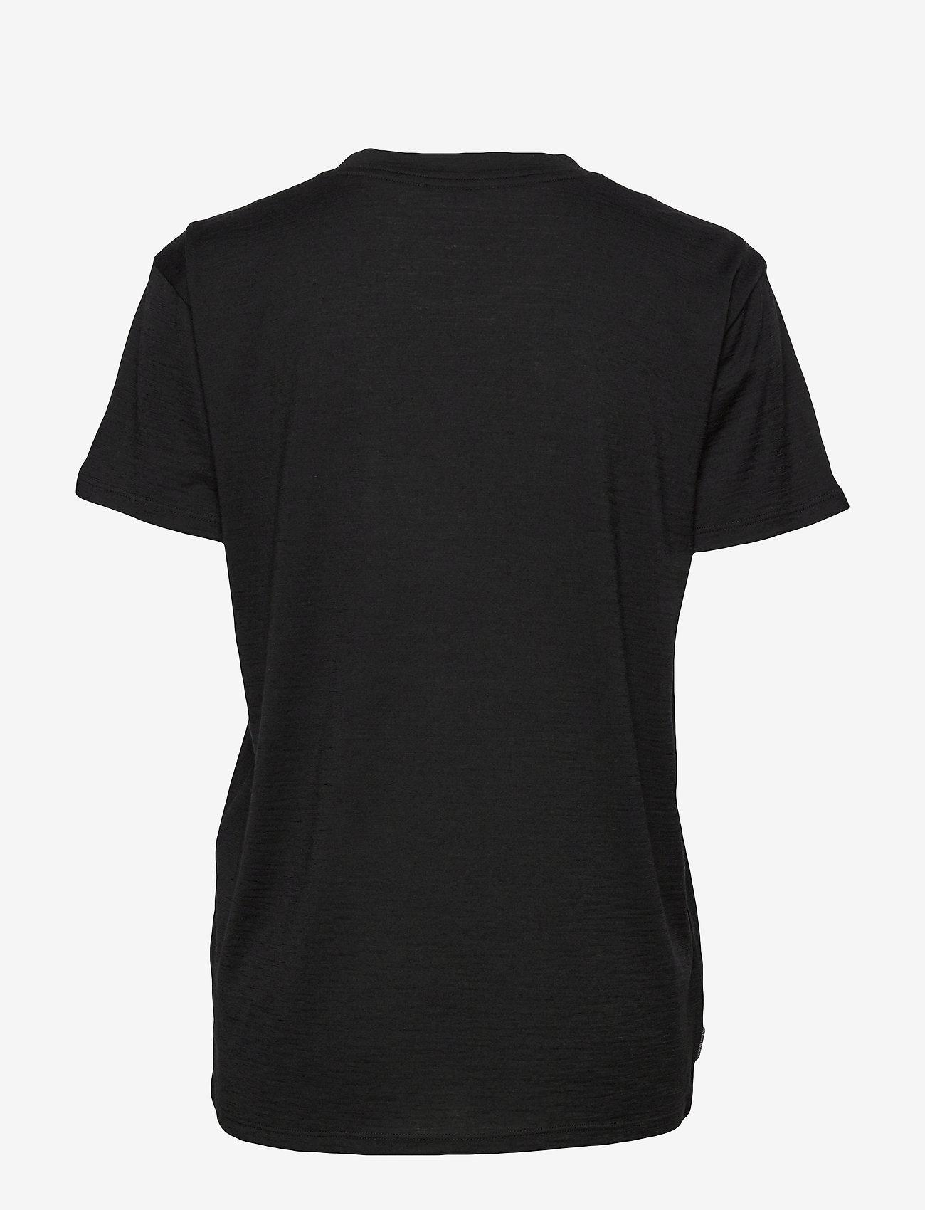Icebreaker - Wmns Tech Lite SS Scoop Solo - t-shirts med tryck - black - 1