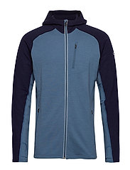 Mens Quantum LS Zip Hood - THUNDER/MIDNIGHT NAVY