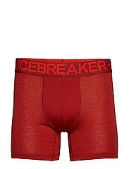 Mens Anatomica Zone Boxers - SIENNA/CHILI RED