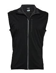 Mens Tech Trainer Hybrid Vest - BLACK/JET HTHR