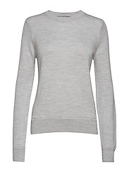 Wmns Muster Crewe Sweater - STEEL HTHR