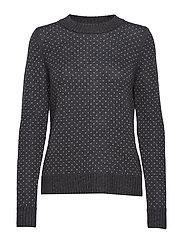 Wmns Waypoint Crewe Sweater - CHAR HTHR/STEEL HTHR