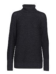 Wmns Waypoint Roll Neck Sweater - CHAR HTHR