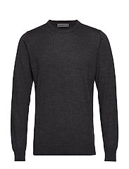 Mens Shearer Crewe Sweater - CHAR HTHR