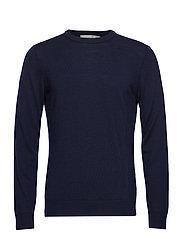 Mens Shearer Crewe Sweater - MIDNIGHT NAVY