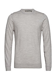 Mens Shearer Crewe Sweater - STEEL HTHR