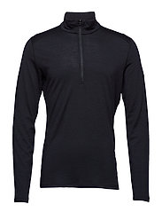 Mens 200 Oasis LS Half Zip - BLACK
