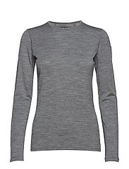 Wmns 200 Oasis LS Crewe - GRITSTONE HTHR