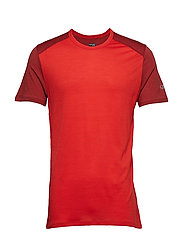 Mens Amplify SS Crewe - CHILI RED/SIENNA