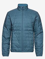 Icebreaker - Mens Hyperia Lite Jacket - frilufts- og regnjakker - granite blue/prussian blue - 0
