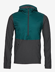Icebreaker - Mens Descender Hybrid LS Half Zip Hood - insulated pants - poseidon/monsoon - 1