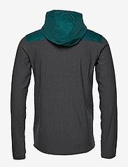 Icebreaker - Mens Descender Hybrid LS Half Zip Hood - insulated pants - poseidon/monsoon - 4