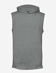 Icebreaker - Mens Momentum Hooded Vest - wool midlayer - fossil/snow hthr - 0