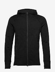 Icebreaker - M Quantum II LS Zip Hood - fleece - black - 0