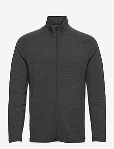 Mens Victory LS Zip - mid layer jackets - jet hthr