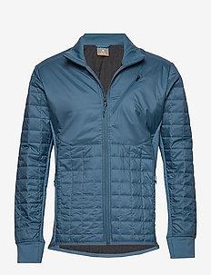 Mens Helix LS Zip - ski jackets - thunder/jet hthr