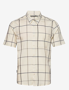 Mens Compass SS Shirt - SNOW/TIMBERWOLF/PLAID