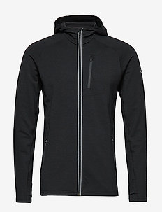 Mens Quantum LS Zip Hood - BLACK