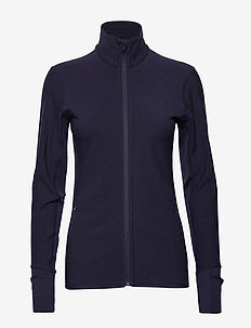 Wmns Descender LS Zip - MIDNIGHT NAVY
