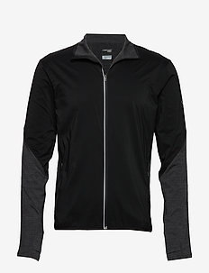 Mens Tech Trainer Hybrid Jacket - BLACK/JET HTHR
