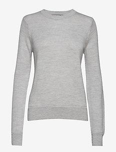 Wmns Muster Crewe Sweater - STEEL HTHR