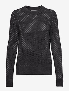 Wmns Waypoint Crewe Sweater - CHAR HTHR