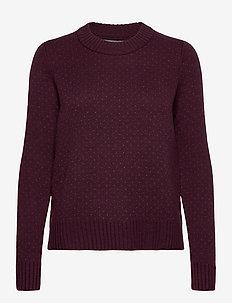 Wmns Waypoint Crewe Sweater - gensere - merlot hthr