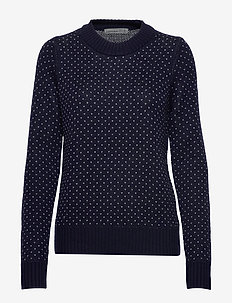 Wmns Waypoint Crewe Sweater - MIDNIGHT NAVY