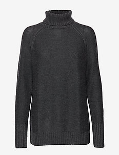Wmns Waypoint Roll Neck Sweater - CHAR HTHR