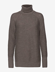 Wmns Waypoint Roll Neck Sweater - TOAST HTHR