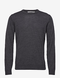 Mens Shearer Crewe Sweater - CHAR HTHR