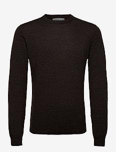 Mens Shearer Crewe Sweater - rund hals - peat hthr