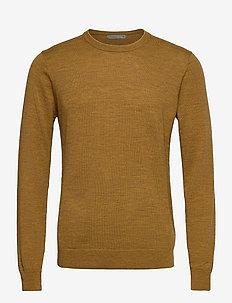 Mens Shearer Crewe Sweater - rund hals - saffron hthr