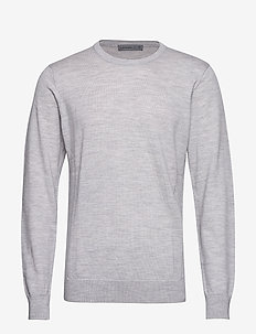 Mens Shearer Crewe Sweater - STEEL HTHR