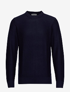 Mens Waypoint Crewe Sweater - MIDNIGHT NAVY