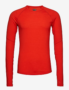 Mens 150 Zone LS Crewe - base layer tops - chili red/monsoon