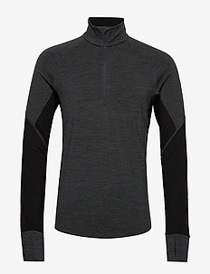 Mens 260 Zone LS Half Zip - JET HTHR/BLACK