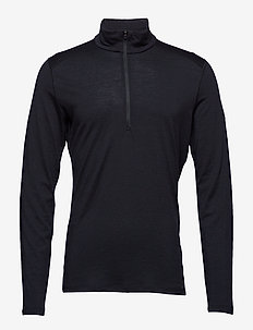 Mens 200 Oasis LS Half Zip - langarmshirts - black